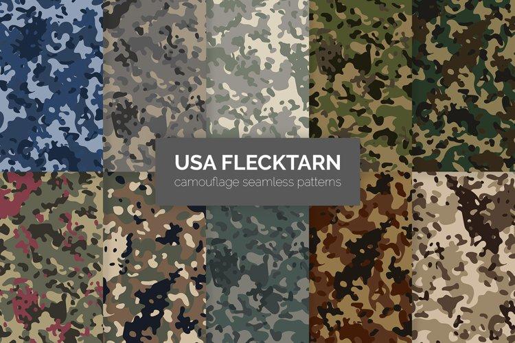 USA Flecktarn Camouflage Patterns example image 1