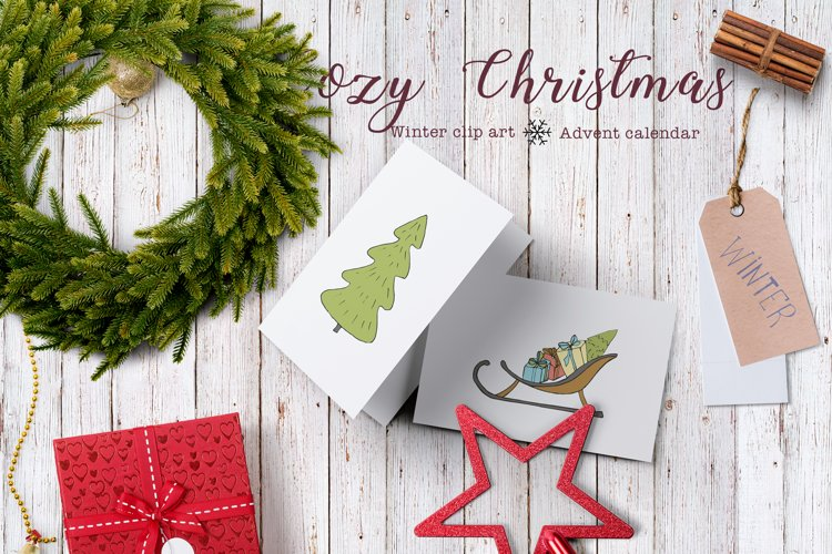 Cozy Christmas. Advent calendar example image 1