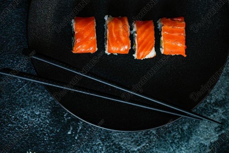 Sushi Set sashimi and sushi rolls example image 1