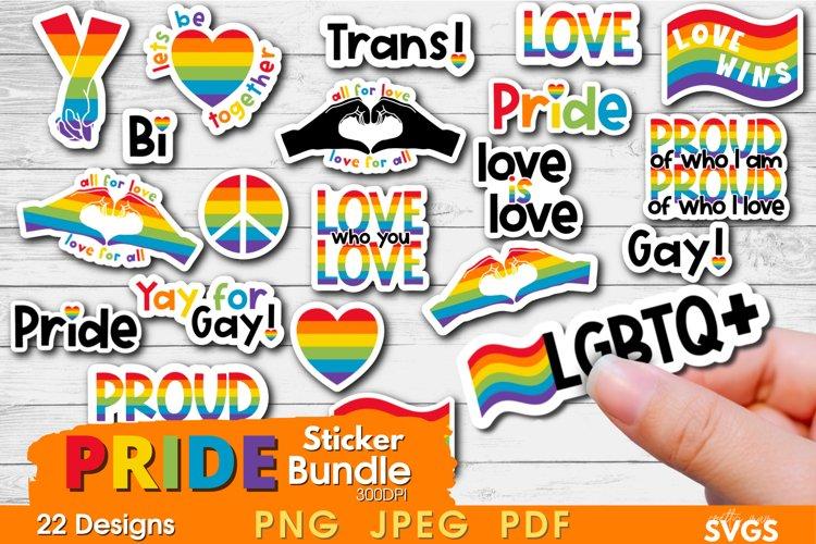 Pride Sticker Bundle | LGBTQ Printable Sticker Pack