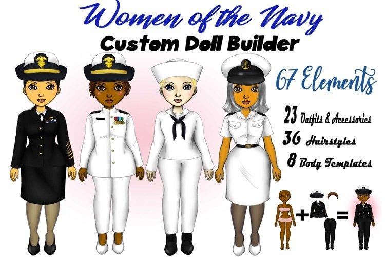 Navy Veteran Woman Best Friends Clipart Fashion PNG