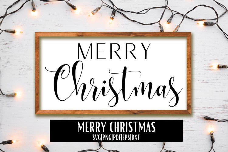 Merry Christmas SVG   SVG-PNG-PDF-EPS-DXF example image 1