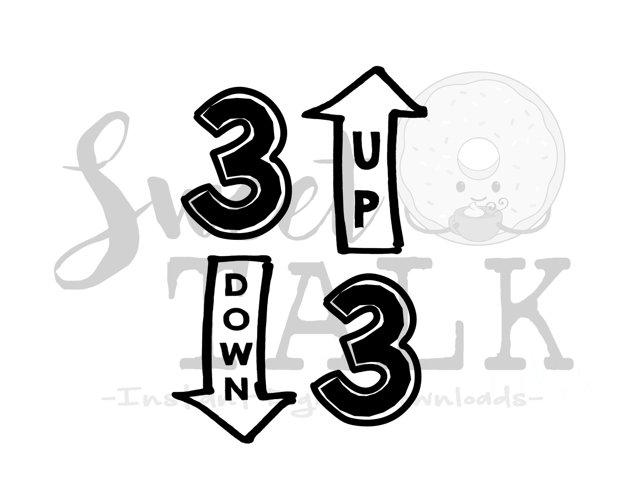 Baseball svg or Softball svg  digital download-3 up 3 down