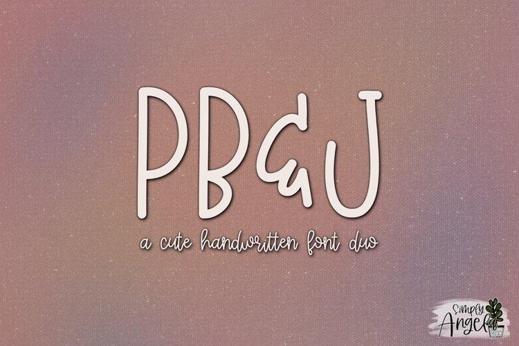 PB & J - a cute handwritten font duo