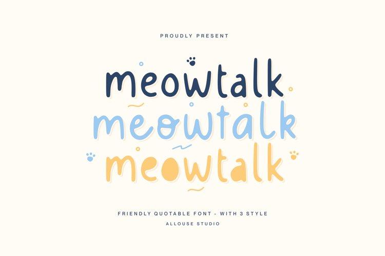 Web Font - Meowtalk example image 1