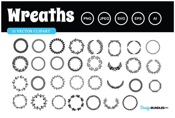 Wreaths Vector Clipart illustration