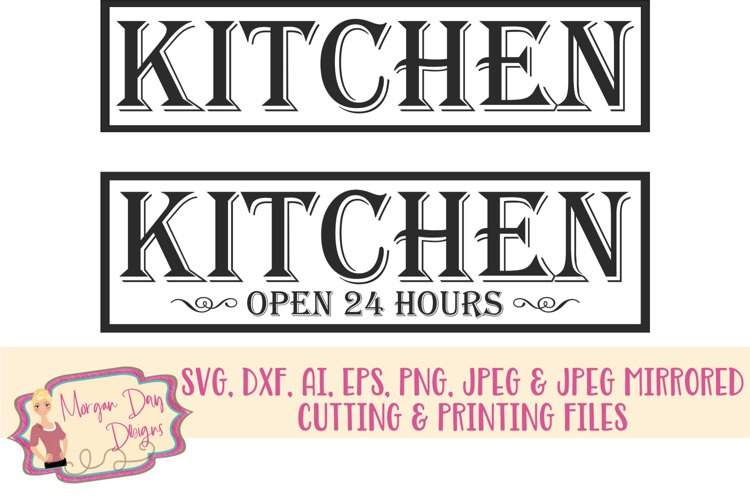 Kitchen SVG, DXF, AI, EPS, PNG, JPEG example image 1