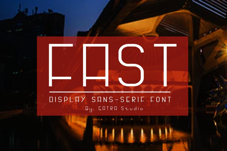 FAST Display Sans Serif Font example image 1
