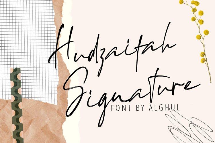 Hudzaifah Signature | Beautiful Handwritten Brush Font example image 1