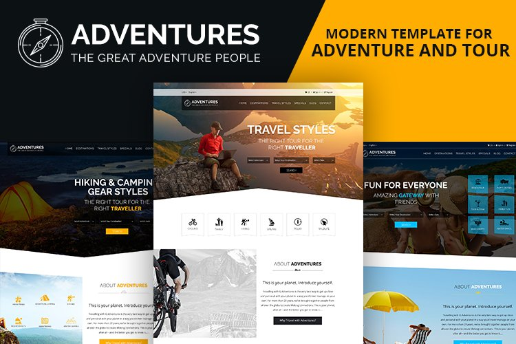 Adventures and Tour PSD Template