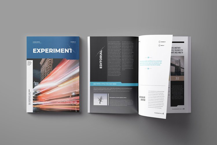 Experiment Indesign Template example image 1