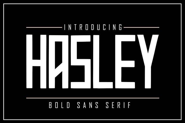 HASLEY Bold Sans Serif example image 1