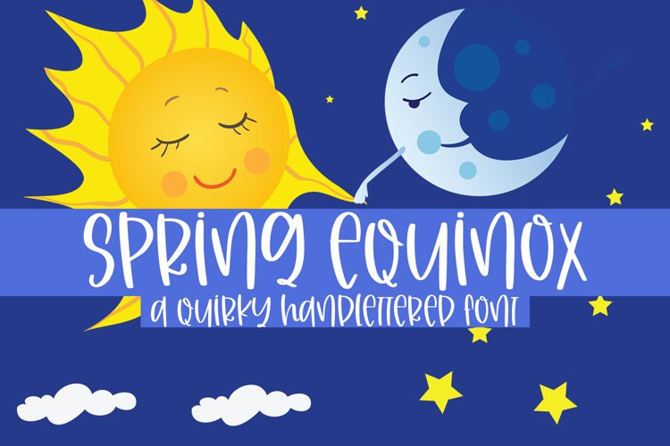 Spring Equinox - A Quirky Handlettered Font example image 1