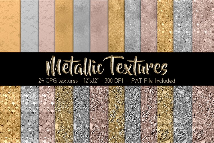 Metallic Glitter Digital Paper Set