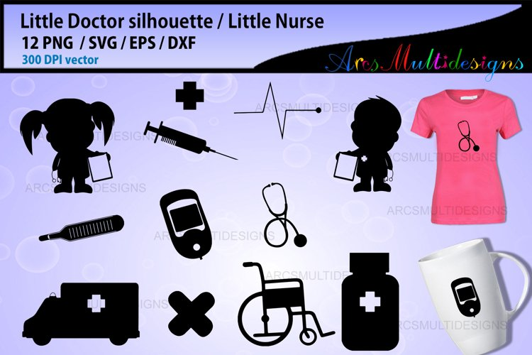 Little doctor clipart silhouette example image 1
