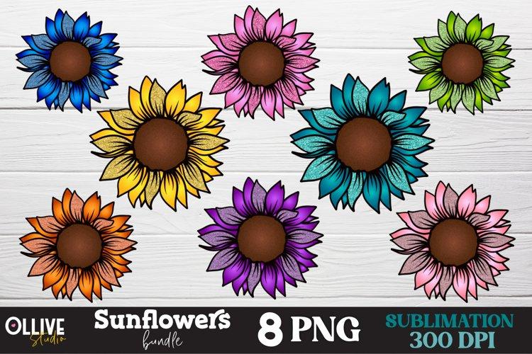 Sunflower PNG Bundle, Sunflower Sublimation PNG example image 1