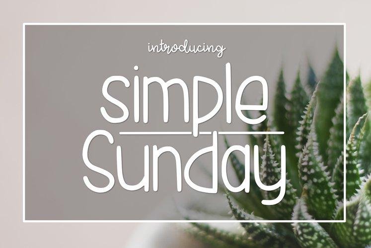 Simple Sunday example image 1
