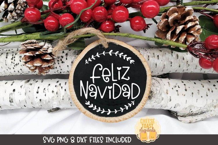Christmas Ornament SVG | Feliz Navidad example image 1
