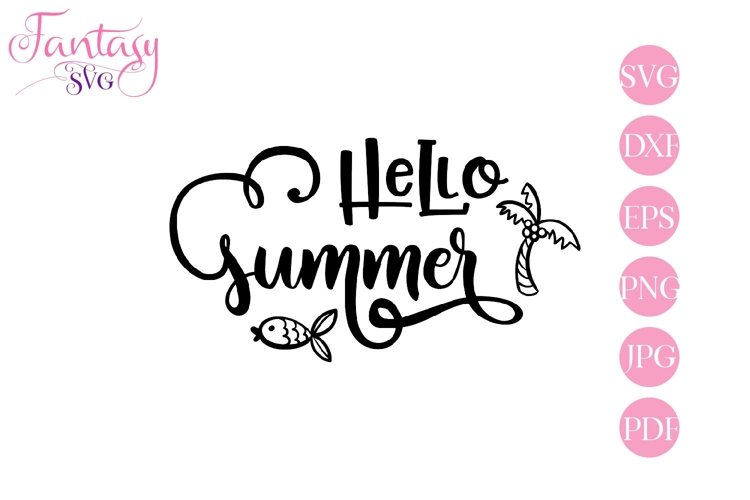 Hello summer - svg cut file