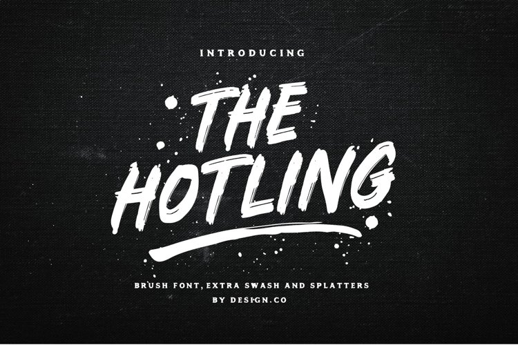The Hotling Brush Font Extras example image 1