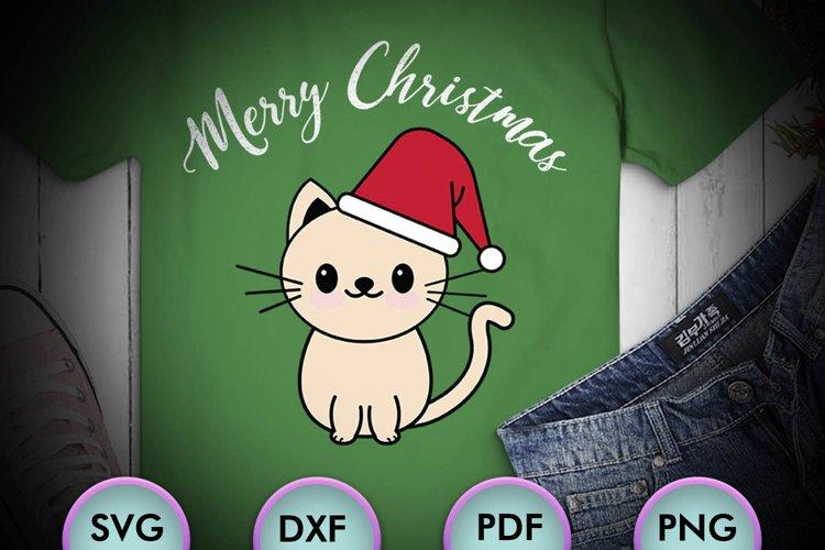 CAT SVG XMAS, Cat Christmas, cream cat, cat happy xmas example image 1