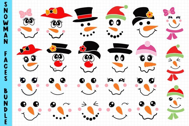 Snowman Faces Bundle Svg