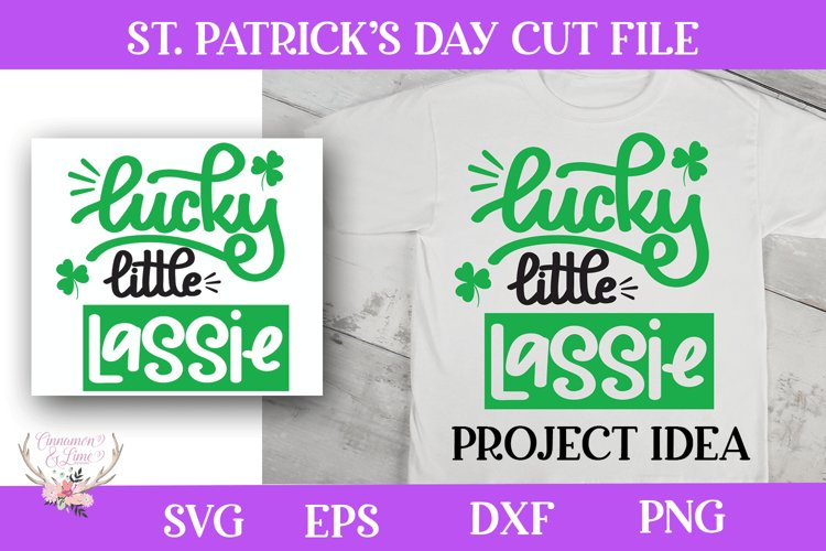 St. Patrick's Day SVG - Lucky Little Lassie example image 1