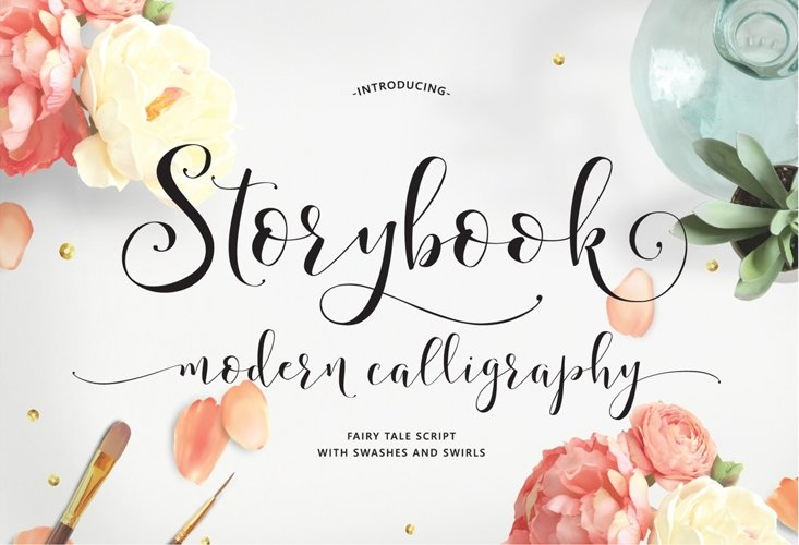 Storybook Calligraphy example image 1