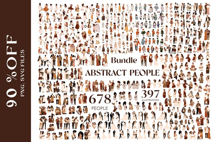 Abstract people bundle example image 1