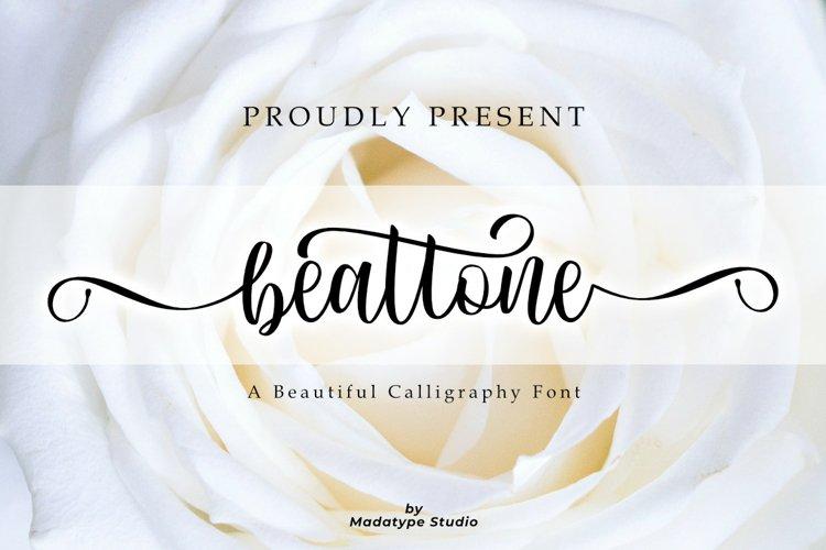 Beattnoe | A Beautiful Calligraphy Font example image 1