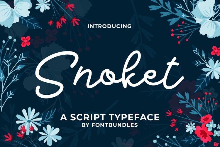 Web Font Snokey example image 1
