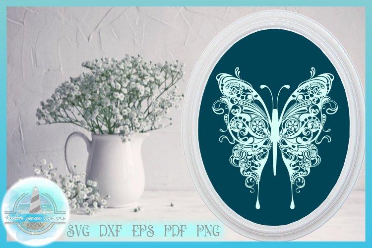 Butterfly SVG | Butterfly Mandala Zentangle SVG