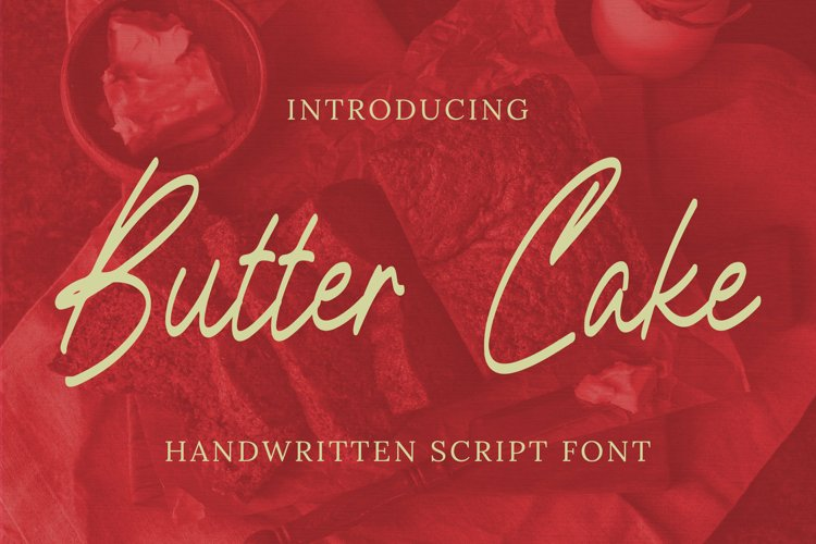 Butter Cake Font example image 1