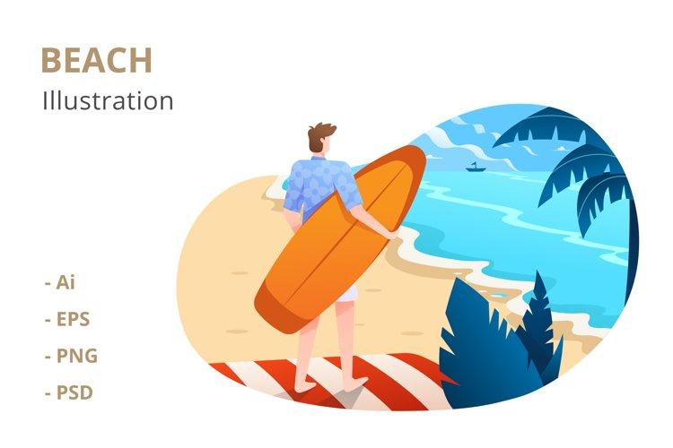 Beach Illustration example image 1