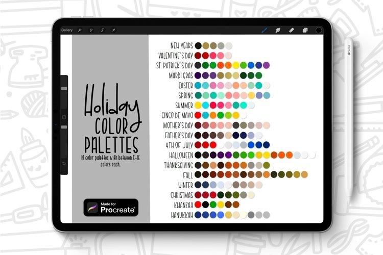 Procreate Color Palette Swatch Bundle for Holidays/Seasons