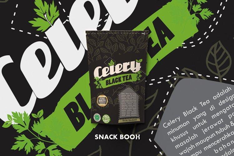 packaging design celery black tea example image 1