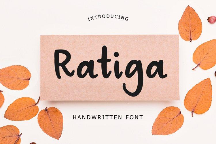 Ratiga Handwritten Font example image 1