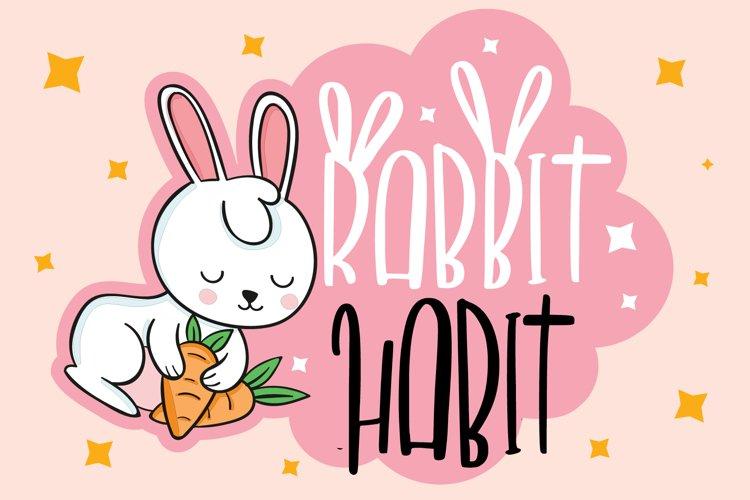 RABBIT HABIT FONT example image 1