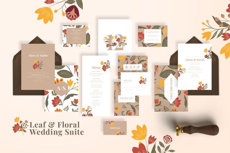 Leaf & Floral Wedding Suite example image 1