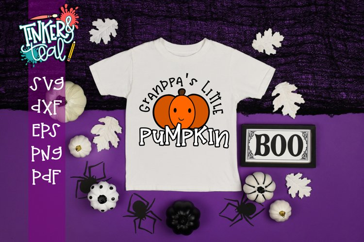 Grandpa's Little Pumpkin Fall SVG example image 1