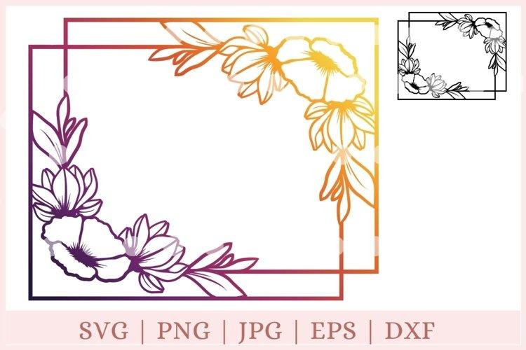 Floral frame svg, wedding svg, floral border svg example image 1