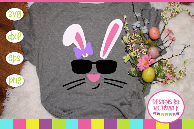 Easter, Hip Hop Bunny, Cool Bunny, SVG, DXF, PNG example image 1