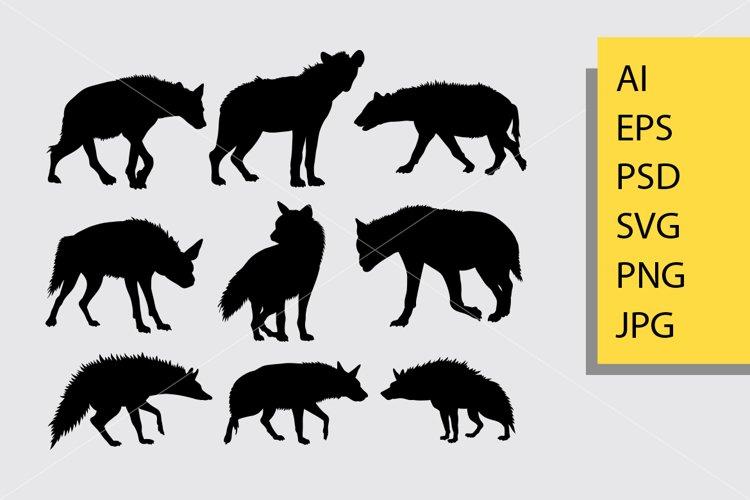 Hyena animal silhouette example image 1