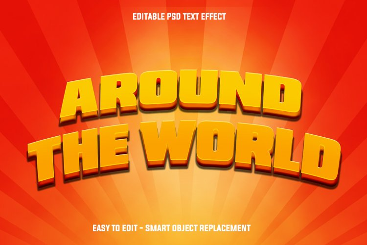 around the world text effect example image 1