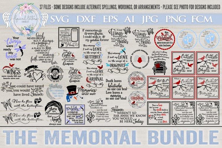 Memorial Grief Loss SVG Bundle of 37 Designs
