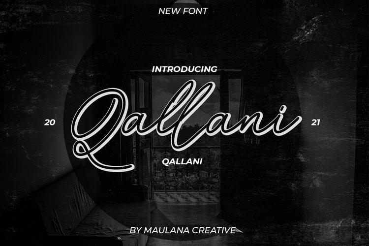Qallani Script Font example image 1