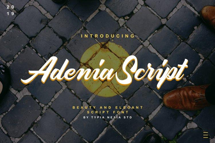 Adenia Script example image 1