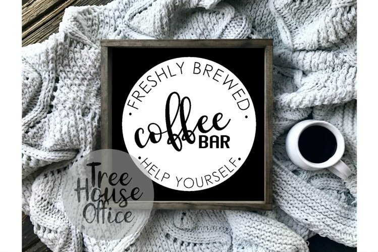 Coffee Bar, Java Farmhouse Kitchen Sign SVG, PNG JPEG DXF example image 1