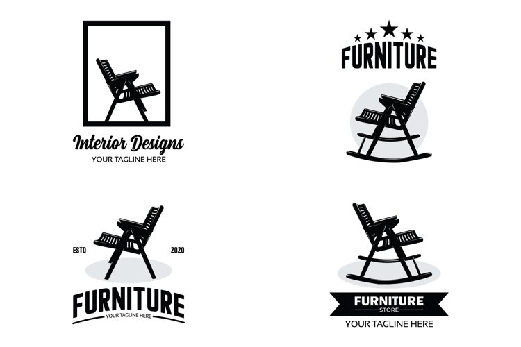 Collection of furniture logo set design template example image 1