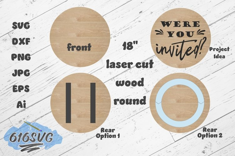 18 Inch Wood Round Laser Designed SVG example image 1